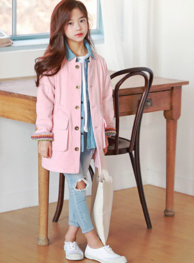 """Pinky Roddy's Eye <br> <font color=""""#9f9f9f"""">♡ Pink jacket to be together ♡ <br> Stitch line with sense!</font>"""