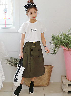 "Max Trench Skirt <br> <font color=""#9f9f9f"">♡ Sophisticated and sporty Skirt ♡ <br> Belted type Skirt!</font>"