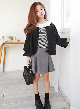 "Chico Tuck Buckle Skirt <br> <font color=""#9f9f9f"">♡ New semester, look backward, schuleuk ♡ <br> Special day! Tidy Skirt!</font>"