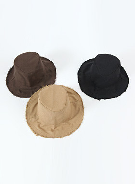 Fringe bucket hat