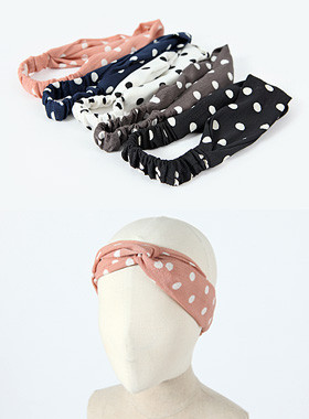 Dot crossing hair turban