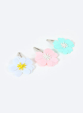 Pastel flower hairpin