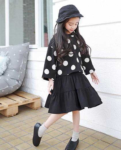 "Complete dot dress SET <br> <font color=""#9f9f9f"">♡ Sleeveless Dress + Dot T-shirt Set ♡ <br> Casual yet gully set items !!</font>"