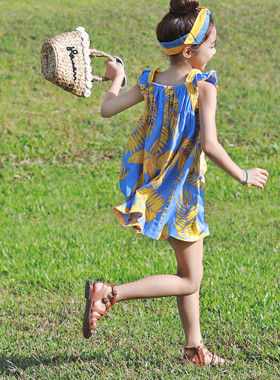 "Papaya mini dress <br> <font color=""#9f9f9f"">* Wow is summer! * <br> * Sewon Summer One Piece *</font>"