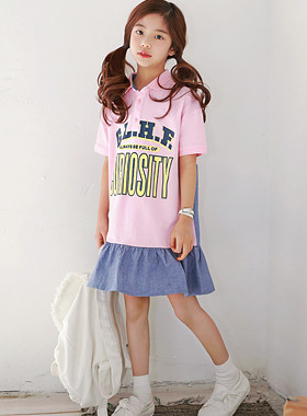 "Full of color dress <br> <font color=""#9f9f9f"">♡ sporty one piece ♡ <br> Sense color processing!</font>"