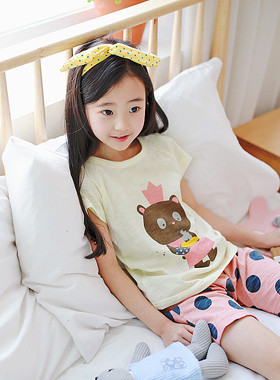 """Bear Cooking Gown <br> <font color=""""#9f9f9f"""">* Dot printing * <br> Perfectly comfortable exhaust pants</font>"""