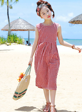 "Stew-check dress <br> <font color=""#9f9f9f"">* Hot Summer Hot Items * <br> Lovely look that makes you feel free!</font>"