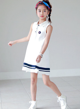 "Jay Karas sleeveless dress <br> <font color=""#9f9f9f"">♡ luxurious embroidery patch ♡ <br> Sporty daily look!</font>"