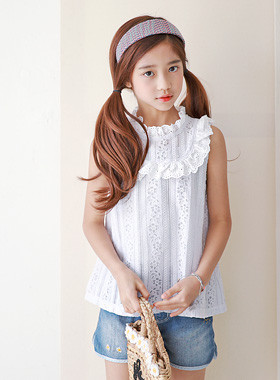 "Jane Blouse <br> <font color=""#9f9f9f"">♡ Beautiful Lace Neck ♡ <br> Cheung Soon, the girl tick Blouse!</font>"
