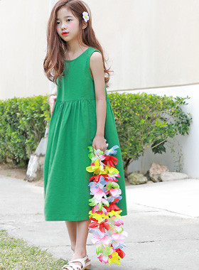 "Nature One Piece <br> <font color=""#9f9f9f"">♡ Fresh green festival ♡ <br> Unique Green Summer Dress One-Piece!</font>"