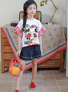 "Mickey Freel Tee <br> <font color=""#9f9f9f"">♡ Rich Freel Sleeves ♡ <br> * Lovely Mickey Minnie *</font>"