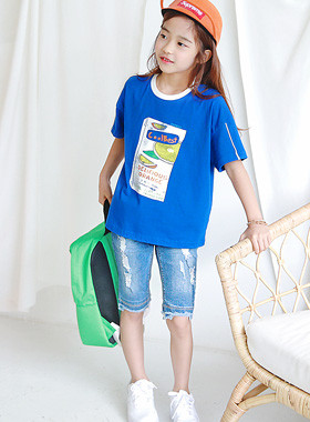 "Juicy box round tee <br> <font color=""#9f9f9f"">* Awesome Blue Summer T * <br> Trendy look</font>"