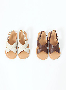 Crossing leather sandals