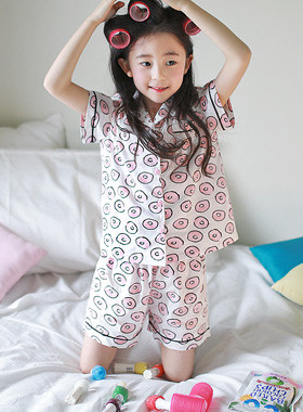 "Ringing pajama SET <br> <font color=""#9f9f9f"">♡ Dongle dongle Pretty pattern ♡ <br> A refreshing fit!</font>"