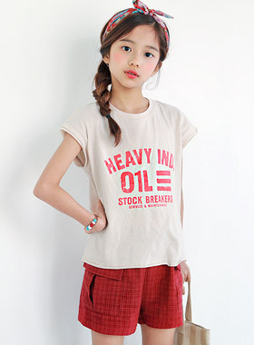 "HABY Vintage SET UP <br> <font color=""#9f9f9f"">♡ Cool Short-sleeve + shorts ♡ <br> Hot summer coordination is completed!</font>"