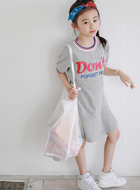 "Don Do Goet Dress <br> <font color=""#9f9f9f"">♡ Casual mood Daily Dress ♡ <br> Neckline, 3 points on the sleeve color key point !!</font>"