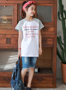 "BonAgent Regency Tea <br> <font color=""#9f9f9f"">* Trendy Daily Style look * <br> T-shirt is easy to coordinate!</font>"