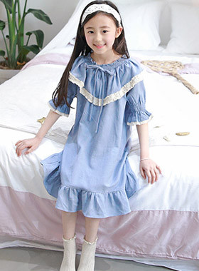 "Boiled pajama dress <br> <font color=""#9f9f9f"">♡ One Piece of Light Atmosphere ♡ <br> Be careful even in the room!</font>"