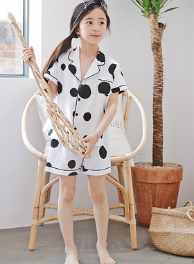 "Fondue Pajama SET <br> <font color=""#9f9f9f"">* Dongle Dongle dot printing * <br> Relaxing Daily Pajama SET</font>"