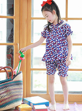 """Cherry Ming Pajama SET <br> <font color=""""#9f9f9f"""">♡ Romantic punching race ♡ <br> * Sour cherry pattern *</font>"""