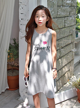 "Think SleevelessFlare Dress <br> <font color=""#9f9f9f"">♡ Cool Sleeveless Dress Type ♡ <br> Active with wide Flare line !!</font>"