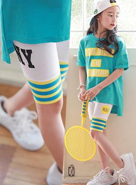 "NYshibori leggings <br> <font color=""#9f9f9f"">♡ Allegro Stripe ♡ <br> * Short shibori hem *</font>"