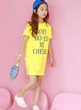 "Cheese slit dress <br> <font color=""#9f9f9f"">* Cheese freshly! * <br> Tidy Simple Daily Look</font>"