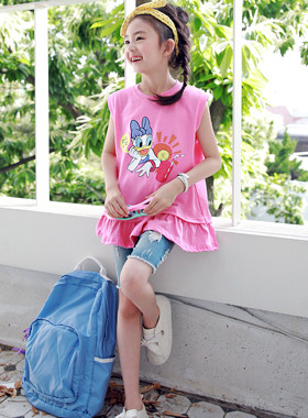 "Sawat Freel Sleeveless Top <br> <font color=""#9f9f9f"">* ♡ Disney Daisy Duck ♡ * <br> * Lovely Freel *</font>"