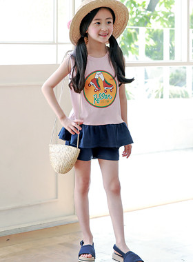 """Roller Girl Up and Down SET <br> <font color=""""#9f9f9f"""">♡ Cute roller printing ♡ <br> * Lovely ruffle point *</font>"""