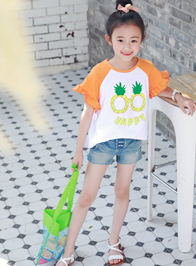 "Juice frilly lean tee <br> <font color=""#9f9f9f"">* Fresh juice explosion * <br> Daily milk T</font>"