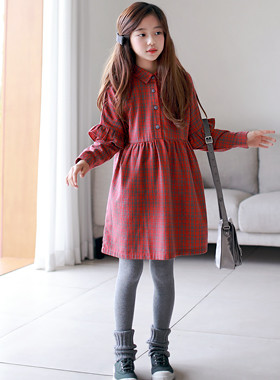 "French Check One Piece <br> <font color=""#9f9f9f"">* One Piece resembling autumn * <br> I'm cute with point frills.</font>"