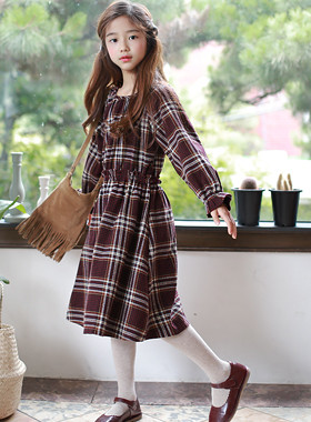 "Maison Check Dress <br> <font color=""#9f9f9f"">Freel Banding ♡ <br> * Feminine ribbon straps *</font>"