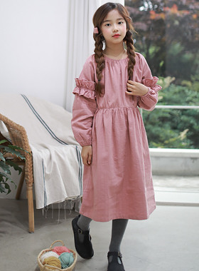 "Margaret frill dress <br> <font color=""#9f9f9f"">* ♡ romantic mood * <br> * Girly short sleeves ruffle *</font>"