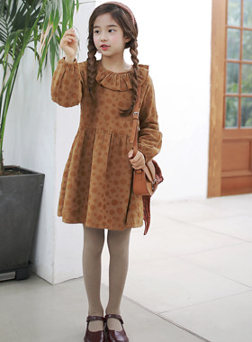 "Amiens frilly dress <br> <font color=""#9f9f9f"">* ♡ Neck line that looks good / sleeve ♡ * <br> * Mood full of Collar one Piece *</font>"