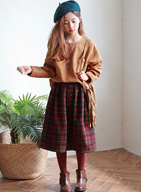"Dana Check Skirt Up and Down SET <br> <font color=""#9f9f9f"">♡ Luxurious Gully mood ♡ <br> * Relaxed sensibility *</font>"