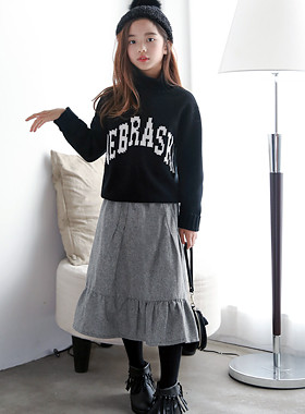 "Fog Flare Long Skirt <br> <font color=""#9f9f9f"">* ♡ Long-length skirt ♡ * <br> * Items to match here and there *</font>"