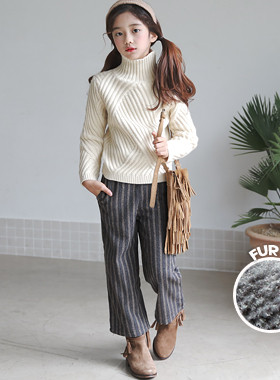 "Asura ST wool fur pants <br> <font color=""#9f9f9f"">* The first item in the trendy! * <br> Fur lining</font>"