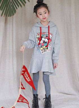 "Crazy ruffle dress <br> <font color=""#9f9f9f"">♡ The cute hood line ♡ <br> * Lovely Character printing *</font>"