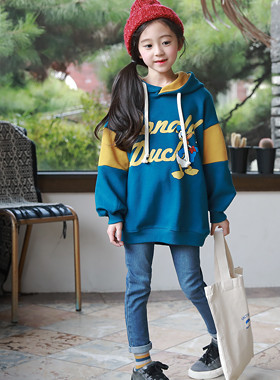 "Collaboration color hood man-to-man <br> <font color=""#9f9f9f"">Donald Duck ♡ <br> * Vivid color scheme *</font>"