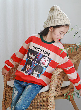 "Happy Time Dangara man-to-man <br> <font color=""#9f9f9f"">˙ Save in my closet ♥ ˙ <br> Collection value 100%</font>"