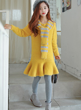 "Smooth Tie Knit Dress <br> <font color=""#9f9f9f"">* I have to wear my body! <br> Lovely lovely multi-look!</font>"