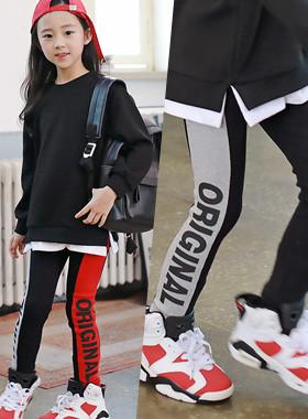 """Origin color leggings <br> <font color=""""#9f9f9f"""">˙Thythm! Slim Line Leggings ˙ <br> Slender line with the color scheme!</font>"""