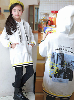 "Kids Hood Mini Dress <br> <font color=""#9f9f9f"">♡ sporty Hood type ♡ <br> * Practical Big Pocket *</font>"