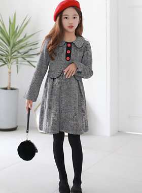 "Red Button Wool Dress <br> <font color=""#9f9f9f"">* ♡ I feel a sense of quality luggage ♡ * <br> * As a special day coordination item Good *</font>"