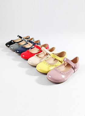 Cutie enamel flat shoes