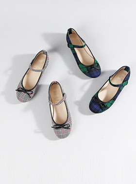 Toto Check Flat Shoes