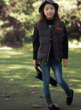 """Second Padding Vest <br> <font color=""""#9f9f9f"""">♡ Various styles in modern style ♡ <br> * If you wear a casual,</font>"""