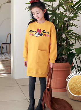 """Mini flamed bristle dress <br> <font color=""""#9f9f9f"""">♡ Even in the cold winter ♡ <br> * Sometimes a t-shirt and sometimes a dress! *</font>"""