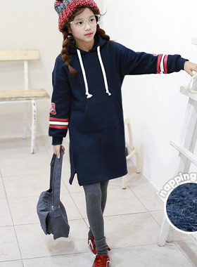 """Lindsay Hood Brushed One Piece <br> <font color=""""#9f9f9f"""">Cute Hood One Piece <br> * Comfortable and casual *</font>"""