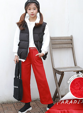 "Para brushed wide pants <br> <font color=""#9f9f9f"">♡ brushed warm + cool plus plus wide ♡ <br> * From point of view to comfortable iridescent! *</font>"